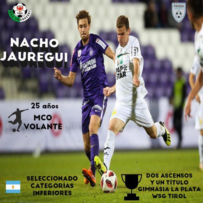 Panda Sports suma a sus filas a Nacho Jauregui, futbolista del WSG Tirol de la Bundesliga de Austria