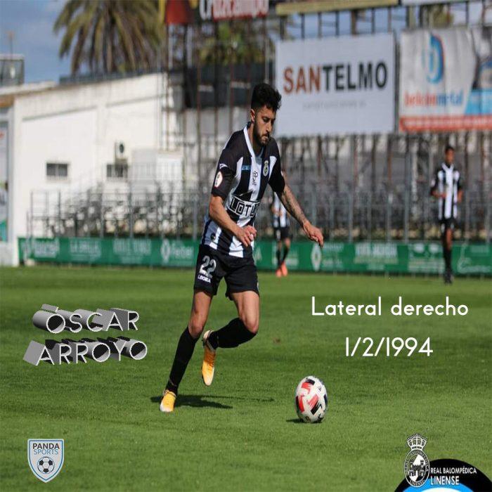 Óscar Arroyo es un lateral derecho que cuenta con una amplia experiencia en Segunda B.
