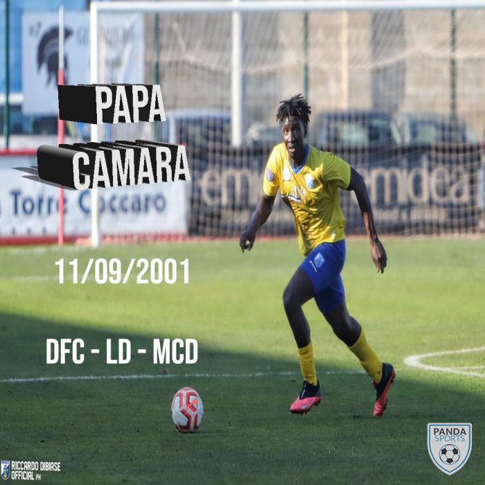 Papa Bamory Camara es un prometedor central de 19 años que juega actualmente en la Serie D, concretamente en el US CIttà di Fasano.