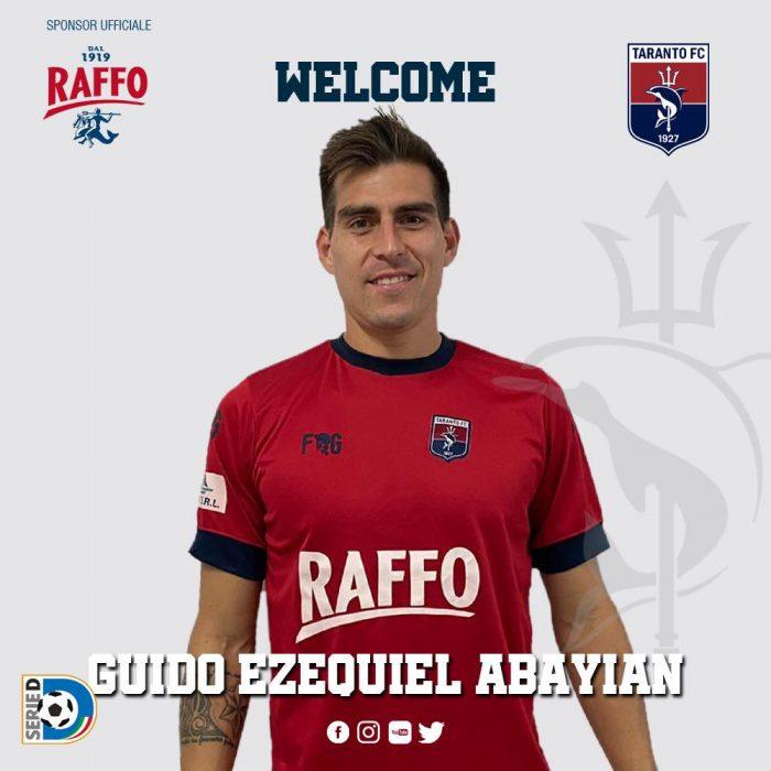 Guido Abayian ha sido recientemente fichado por el Taranto FC.