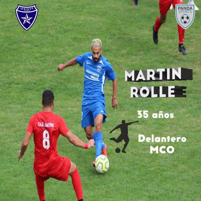 Martin Rolle juega actualmente en el Ionikos Nikeas