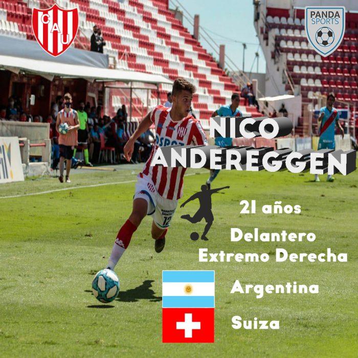 Nico Andereggen, jugador del Club Atlético Unión