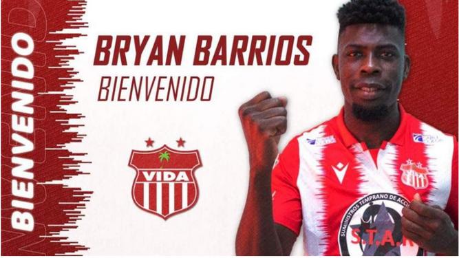 Bryan Barrios ficha por el CS Vida de Honduras