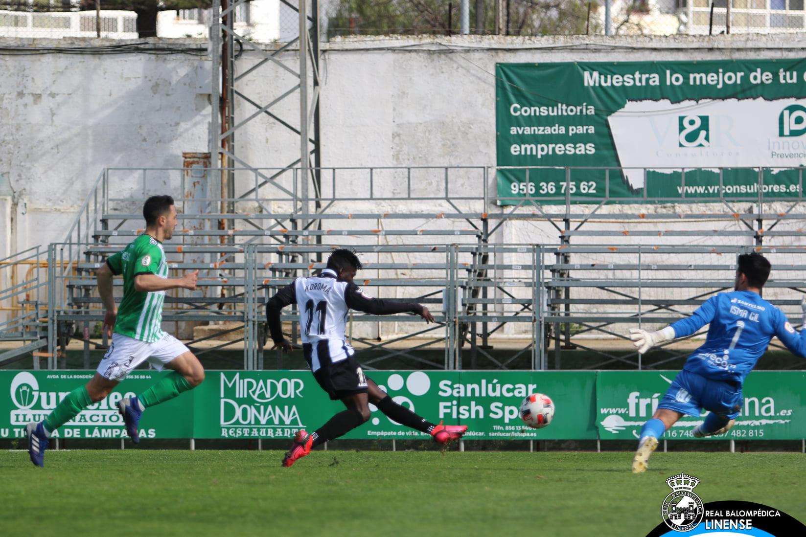 Koroma asiste y marca en la victoria de la Real Balompédica Linense