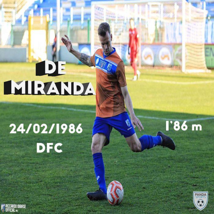 Pablo De Miranda es un experimentado central zurdo que juega actualmente en US Città di Fasano. Fuerte en la marca y salida de balón.