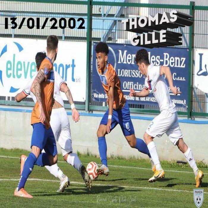 Thomas Gille es un jugador de 19 años de edad que actualmente juega en la Serie D italiana con US Città di Fasano.