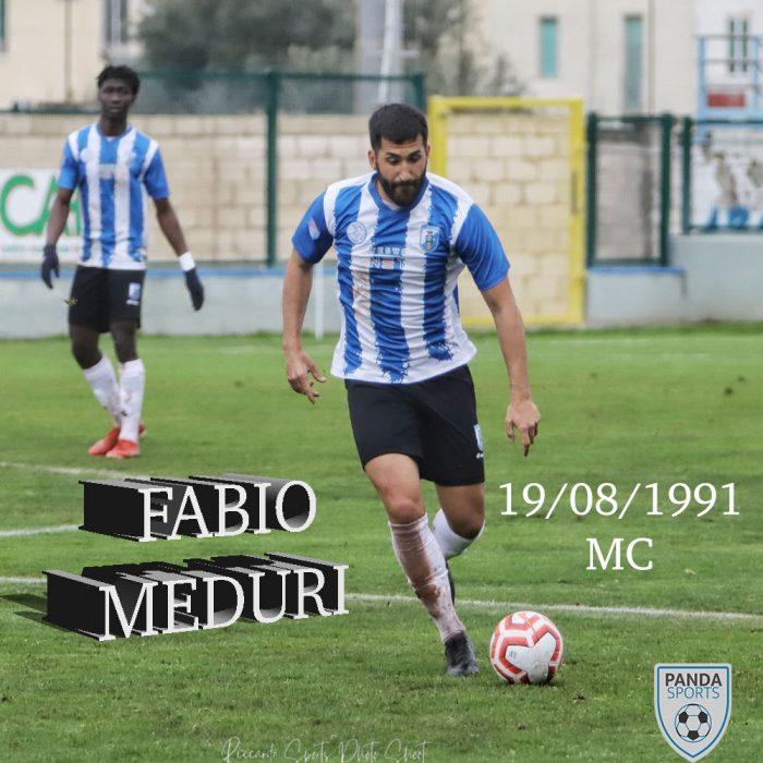 Fabio Meduri es un jugador que tiene una buena técnica y gran visión de juego. Ha disputado más de 150 partidos en Lega Pro (Serie C).