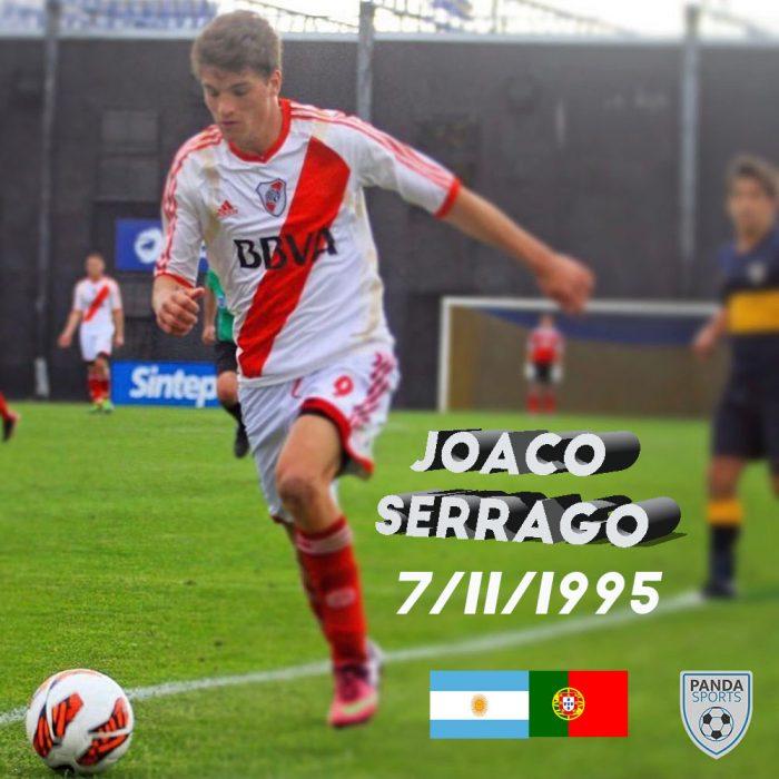 Joaco Serrago es un extremo que destaca por su rapidez, explosividad, técnica y pegada. Se formó en la cantera de River Plate.