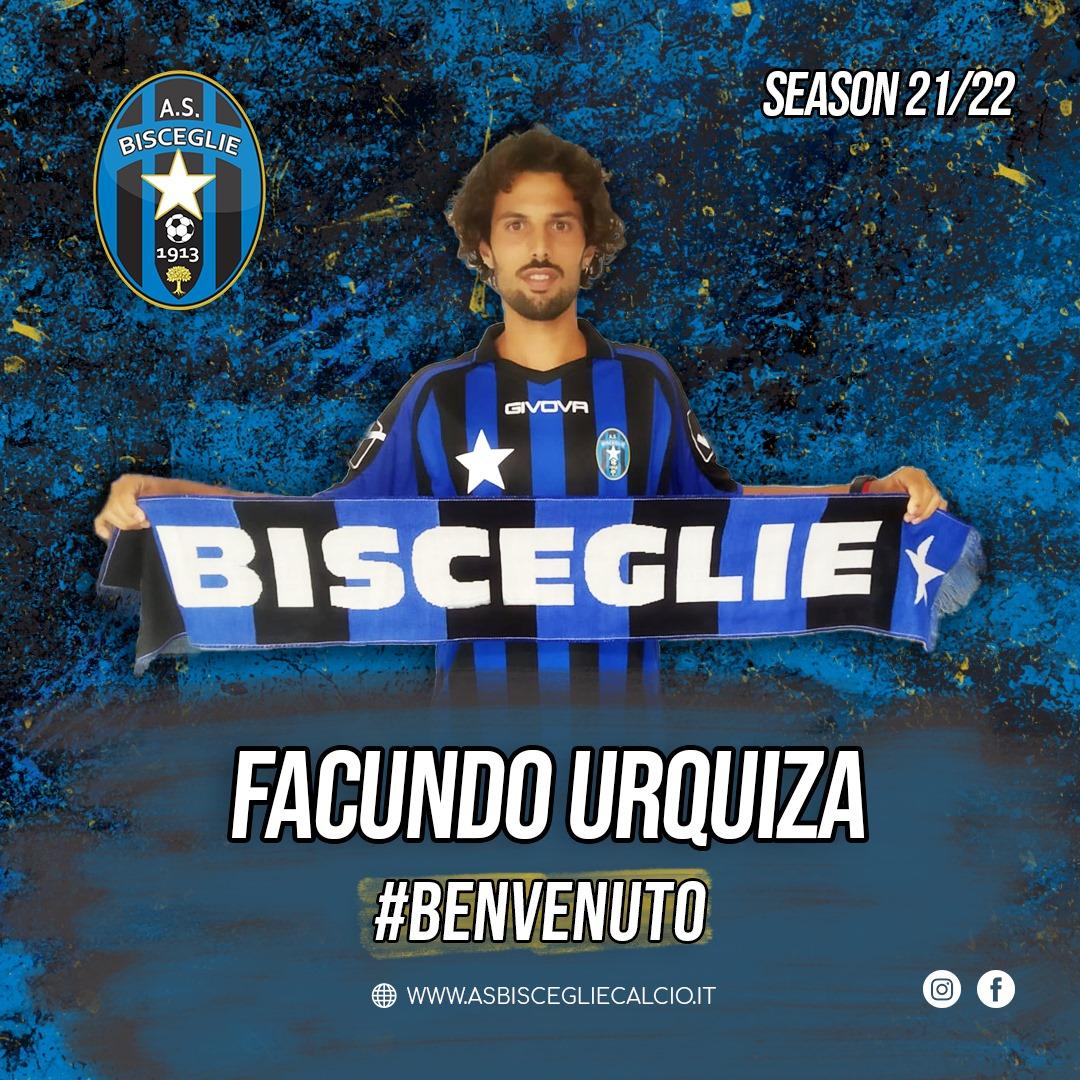 El defensa o pivote Facundo Urquiza se suma a las filas del Bisceglie Calcio 1913, procedente del US Città di Fasano