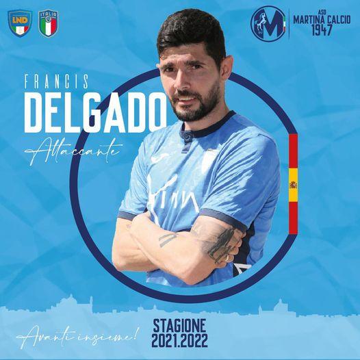 Panda Sports Management incorpora al extremo zurdo Francis Delgado, que jugará por tercera temporada en el Martina Calcio