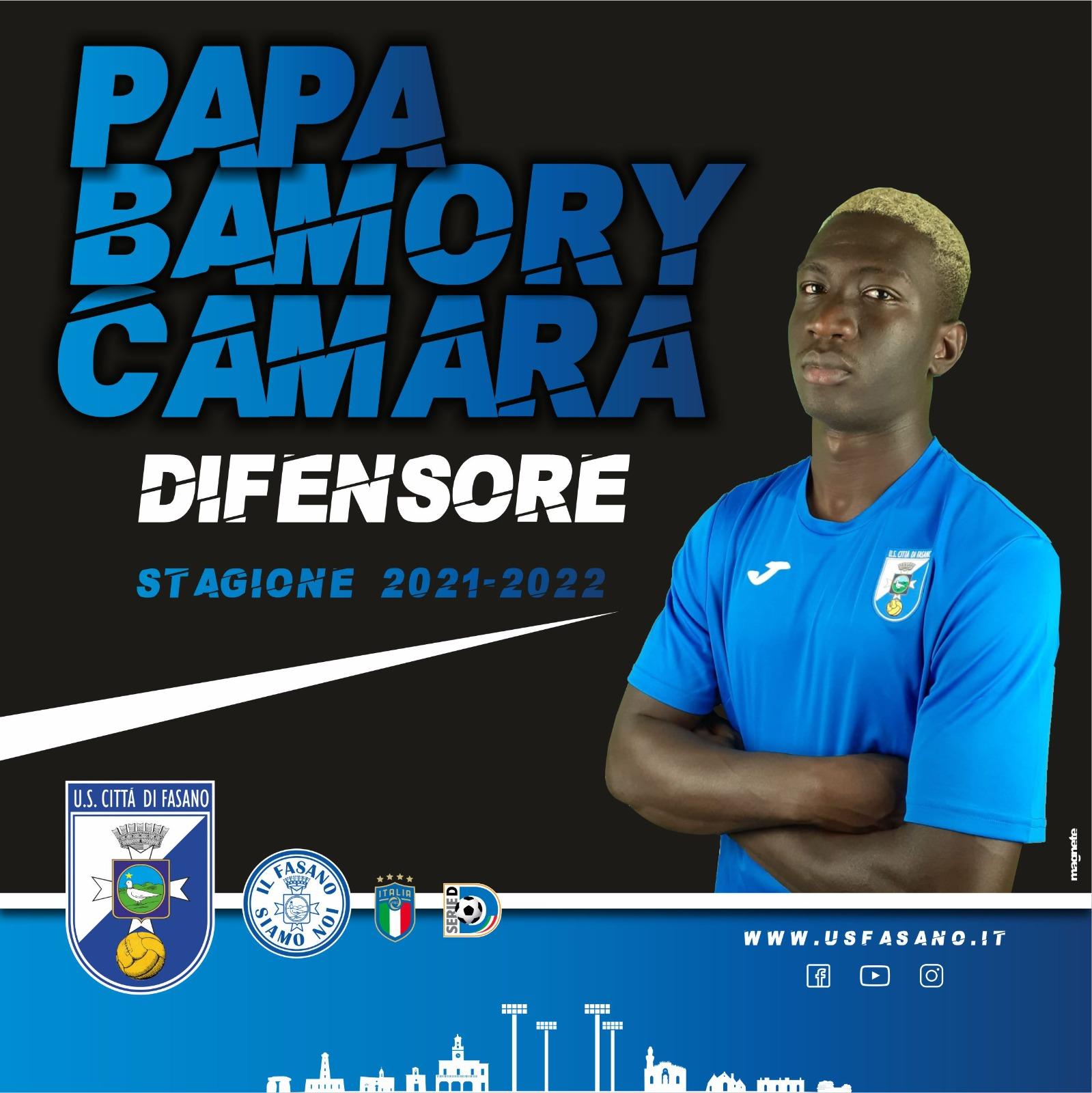 El defensa central Papa Camara ha renovado por el US Città di Fasano. Llegó en invierno, jugó 16 partidos y marcó 2 goles.