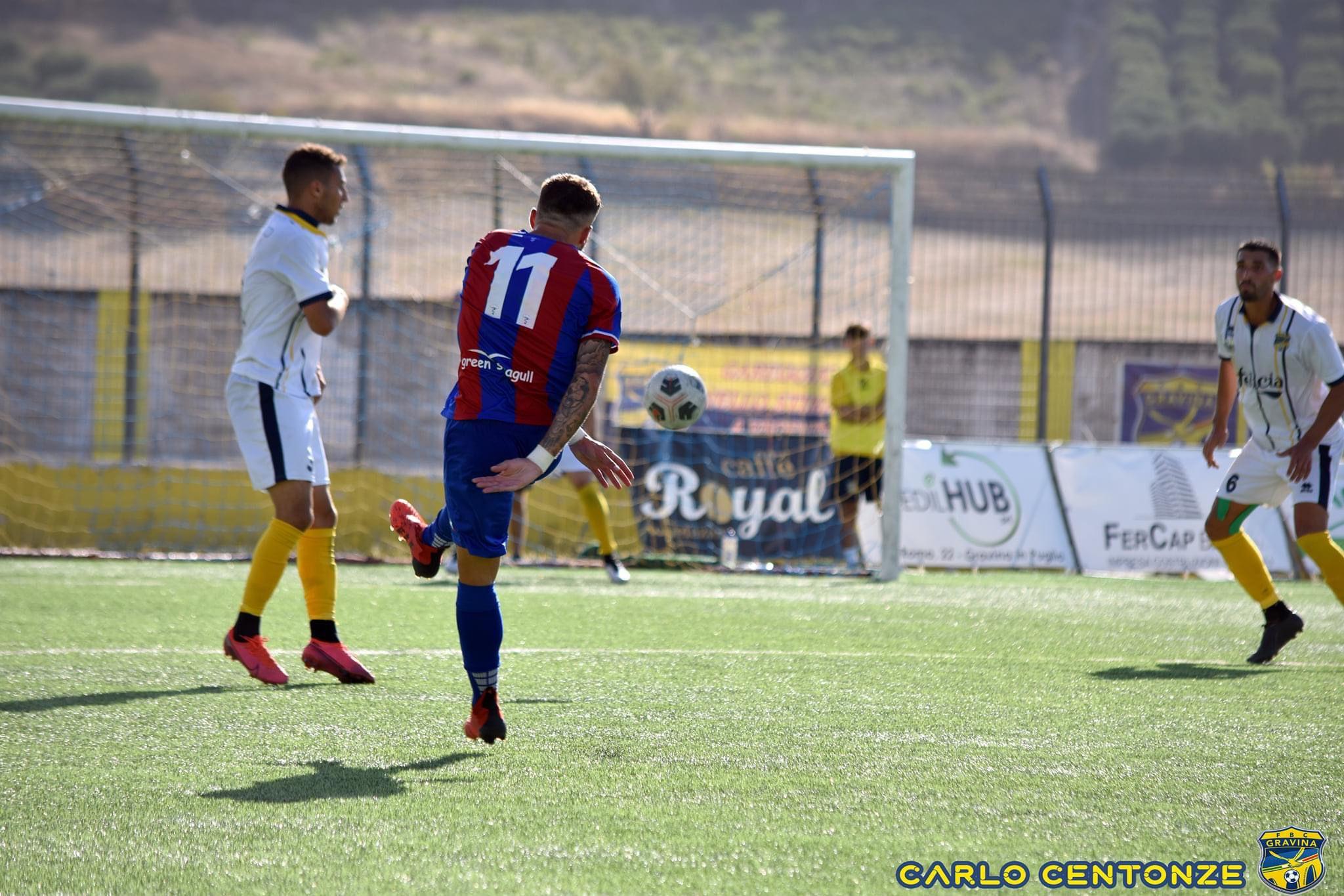 Guga Dambros marcó el segundo tanto de la victoria del Casarano Calcio ante FBC Gravina en el estreno liguero de la Serie D.