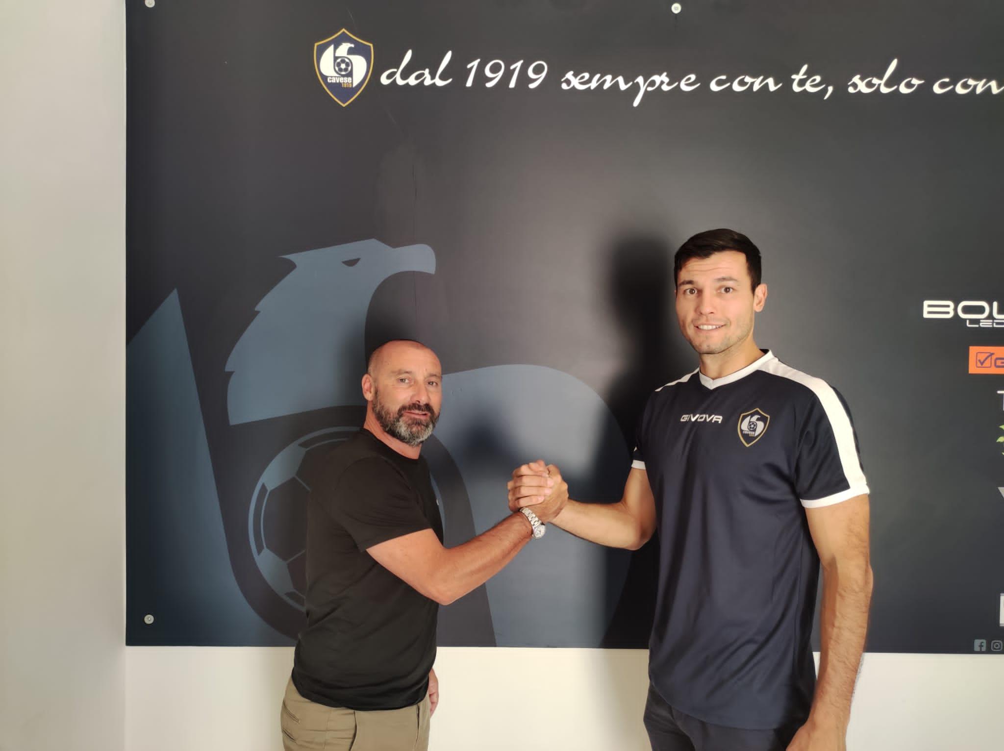 El delantero centro Augusto José 'Tato' Díaz refuerza la delantera del Cavese 1919, equipo que milita en la SerieD-I.
